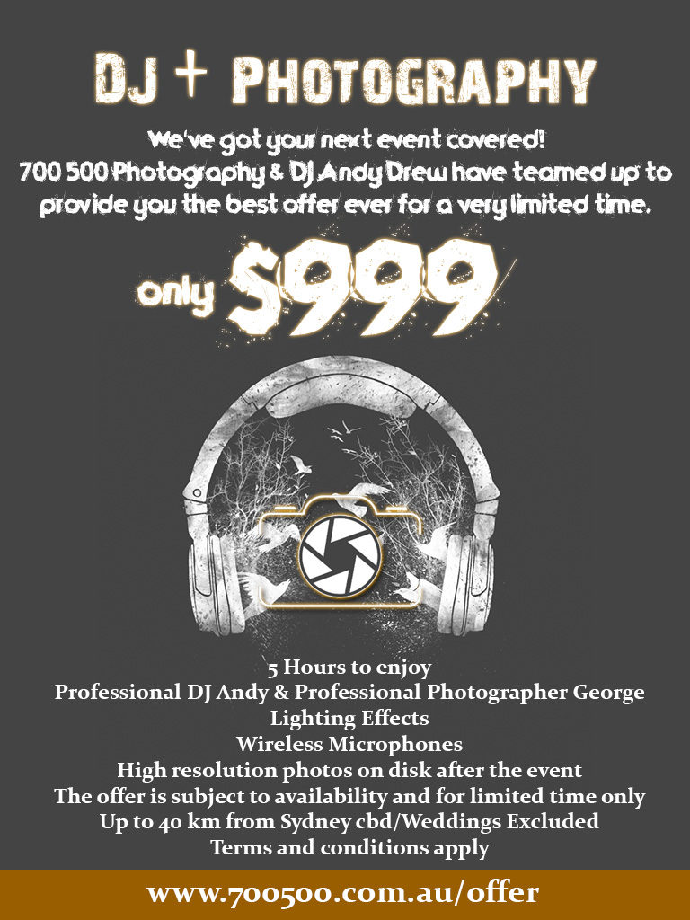 dj and photography package
